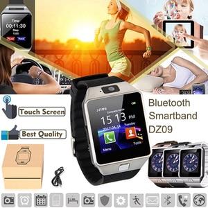 Умные часы с сенсорным экраном dz09 с камерой, Bluetooth, наручные часы с sim-картой, умные часы для Ios и Android телефонов, поддержка нескольких языков