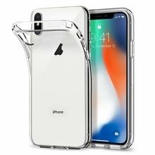 Coque Housse Ultra Fine Transparente For iPhone X XR XS MAX 11 12 PRO 6s/7/8/Plus SE