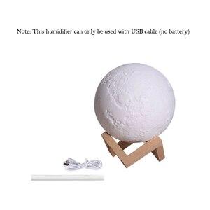 Image 5 - ELOOLE 880ml USB ירח ארומה מכשיר אדים חיוני שמן מפזר אוויר מטהר קולי ערפל אדים לבית ולמשרד