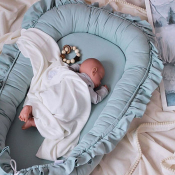 95x60cm Babynest Portable Baby Crib Infant Cradle Cot Newborn Nursery Travel Folding Baby Nest Bumper Baby Bed portable bionic baby nest bed removable infant cradle cot washable newborn travel folding baby crib bumper toddler care beds