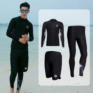 Мужская компрессионная спортивная одежда, фитнес, бег, тренировки, полный рукав, купальник для серфинга, трубка, дайвинг-костюм, Рашгард