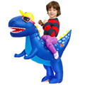 Child Boys Girls Costume Cloth Anime Purim Carnival Birthday Party Cosplay Inflatable Dinosaur Costumes Suit For Kids Halloween