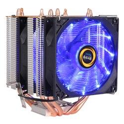 Ooler de Alta qualidade 4 wärme-rohre dual-torre de resfriamento 9 centímetros RGB apoio dos fãs fãs 3PIN ventilador CPU para ICH