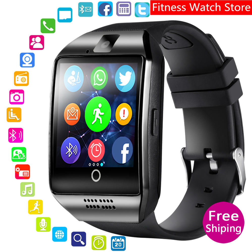 hot new 2019 Smart Watch With Camera  Q18 Bluetooth Smartwatch SIM TF Card Slot Fitness Activity Tracker Sport Watch For Android|Smart Watches| |  - title=