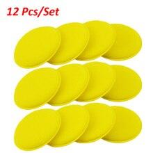 車の車両ワックスポリッシュ泡スポンジ研磨パッドハンドソフトワックス黄色スポンジパッドバッファディテールケア洗浄クリーニングタオル