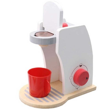 цена на Baby Wood Pretend Play Sets Toys Simulated Coffee Machine With Milk Coffee Beans Sugar Brewing Coffee Restaurant Kitchen Toys
