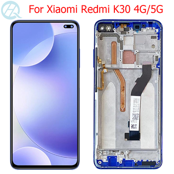 "Original K30 LCD For Xiaomi Redmi K30 Display With Frame 6.67"" Mi Pocophone X2 LCD Display M1912G7BE M1912G7BC Touch Screen"