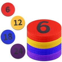 4Inch Diameter Carpet Spot Sit Markers x 24 Classroom Circles with Numbers 1-24 for Teachers (4 Colors)