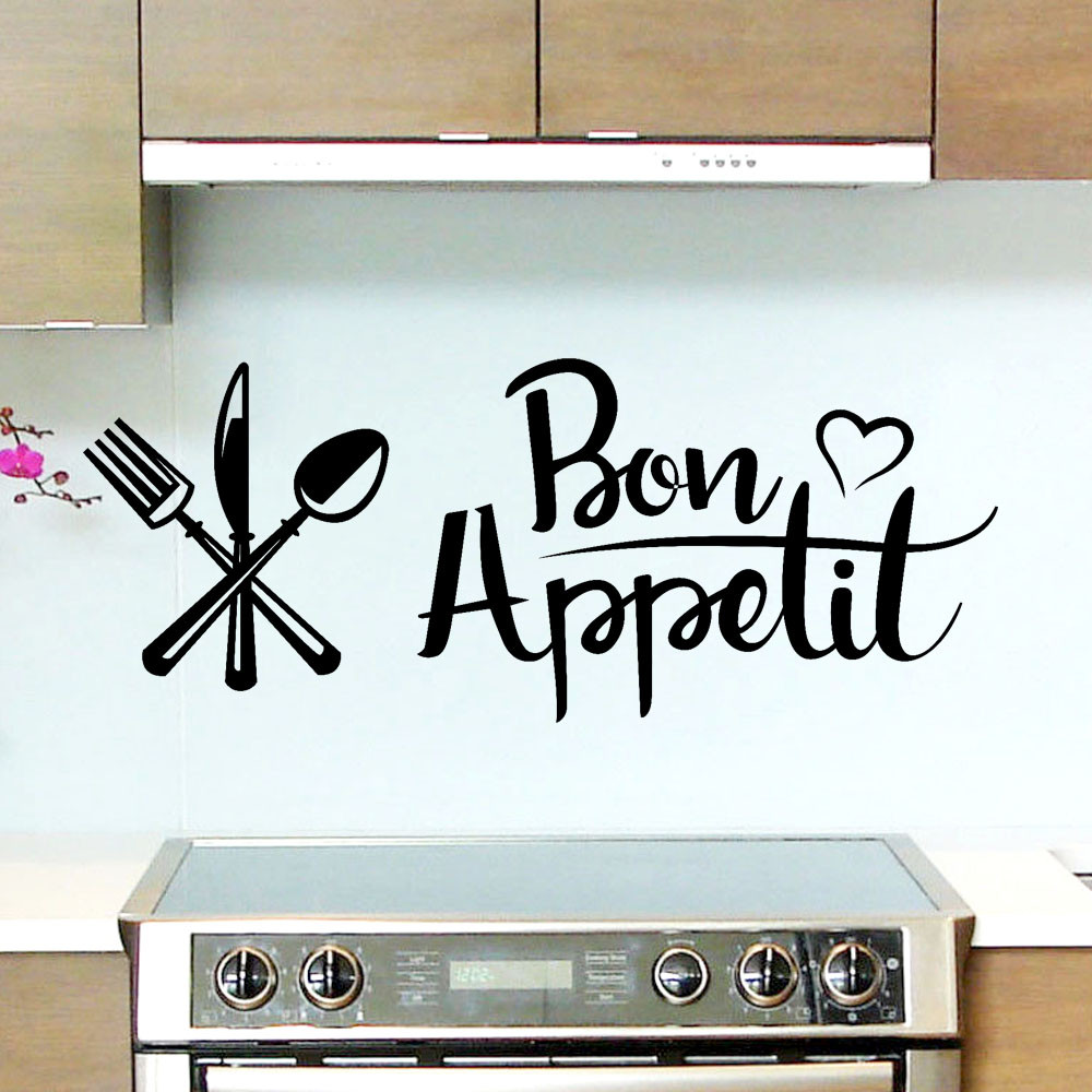 Permalink to Wall Sticker Bon Appetit Removable Art Vinyl Mural Home Room Decor Wall Stickers Home Wall Stickers Room Decoration wall decor