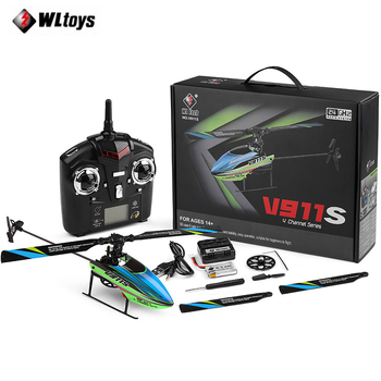 Original WLtoys V911s 2.4Ghz 4CH Single Blade Propellor Gyro Mini Radio Contorl RC Helicopters for Kids Gift Toys Upgraded V911