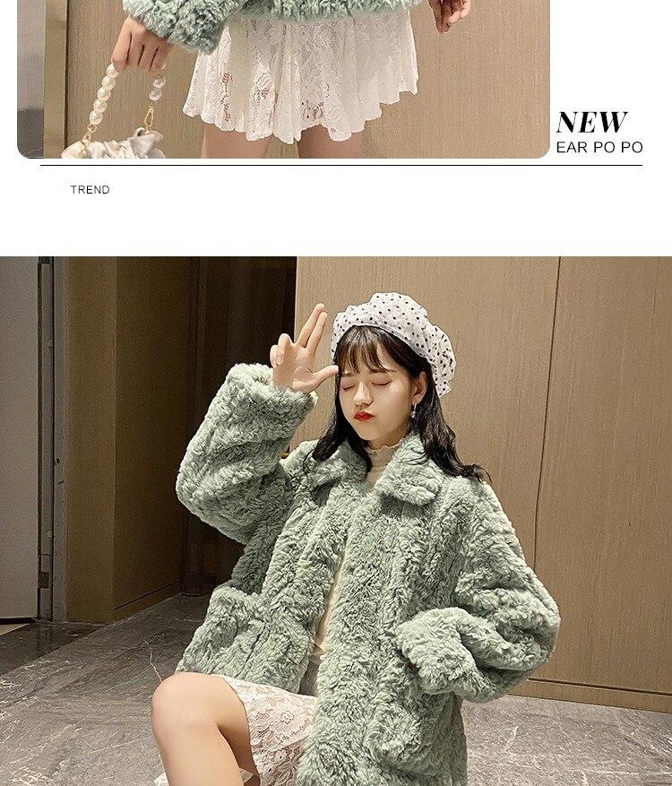H4b65ae2fa50d43efb8a0c3e14cf2645ak Plush jacket women winter short 2021 new Korean version of loose lamb wool faux fur leopard print fur coat women winter