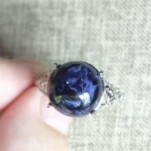Genuine Namibia Natural Pietersite Blue Light Gemstone Ring 11x11mm Chatoyant Adjustable Woman 925 Sterling Silver AAAAA genuine natural pietersite blue light gemstone ring round shape adjustable 11x11mm from namibia woman 925 sterling silver aaaaa