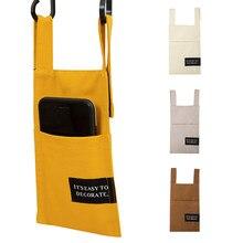 Téléphone poche sac de rangement suspendu pour porte lit côté tissu téléphone sac de rangement pour toilette cuisine salle de bain téléphones support organisateur