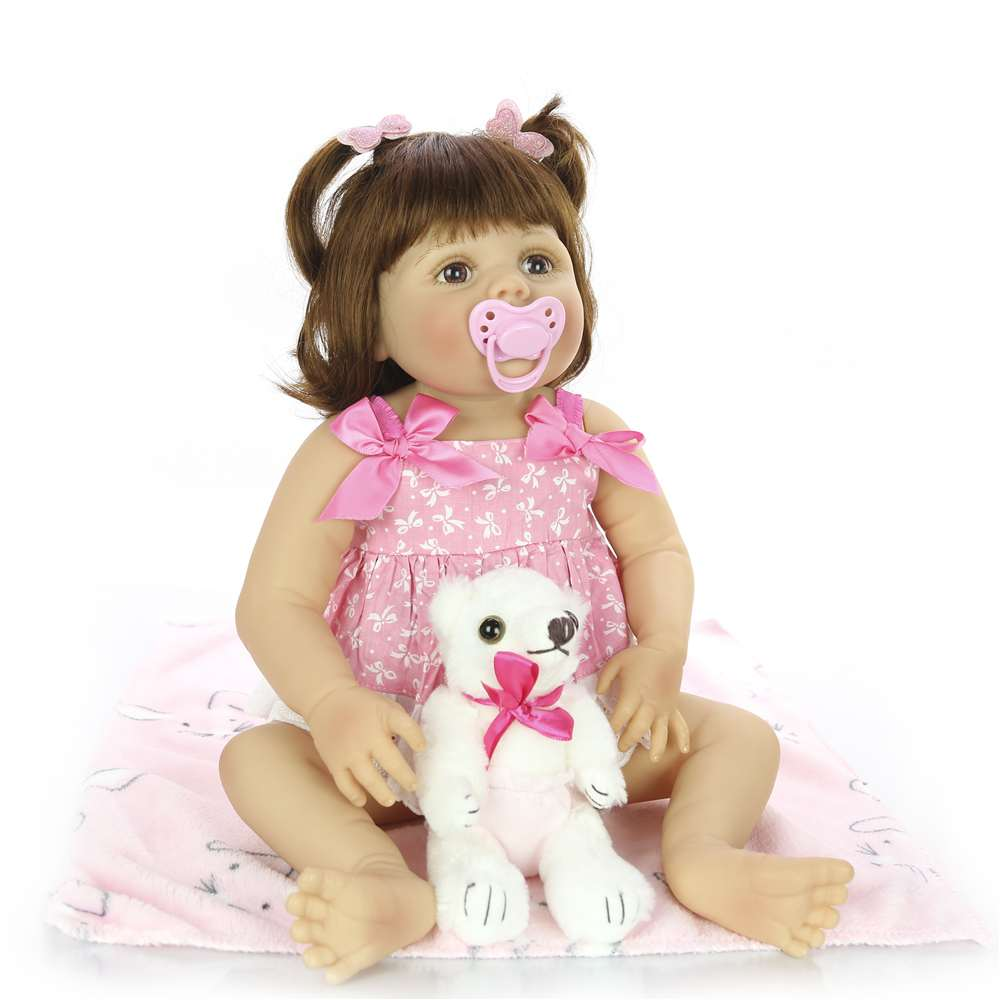 Realistic Reborn Baby Dolls Full Silicone Vinyl Realistic Girl  1