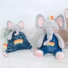 Infant Baby  Comfort Toy Cute Soothe Appease Towel Soft Rabbit Lion Elephant Stuffed Plush Animal Kids Sleeping Dolls