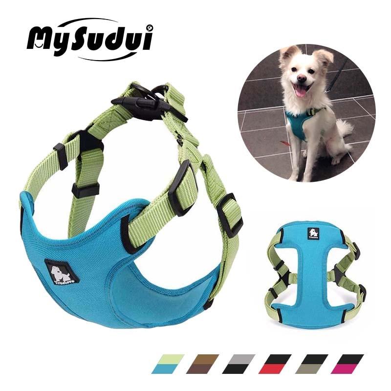 MySudui Truelove Medium Small Dog Harness Vest Strap Adjustable Reflective Puppy Pitbull Chihuahua Accessories