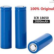 2021 original novo 18650 3.7 v 2000 mah bateria recarregável icr18650 18650 baterias de iões de lítio
