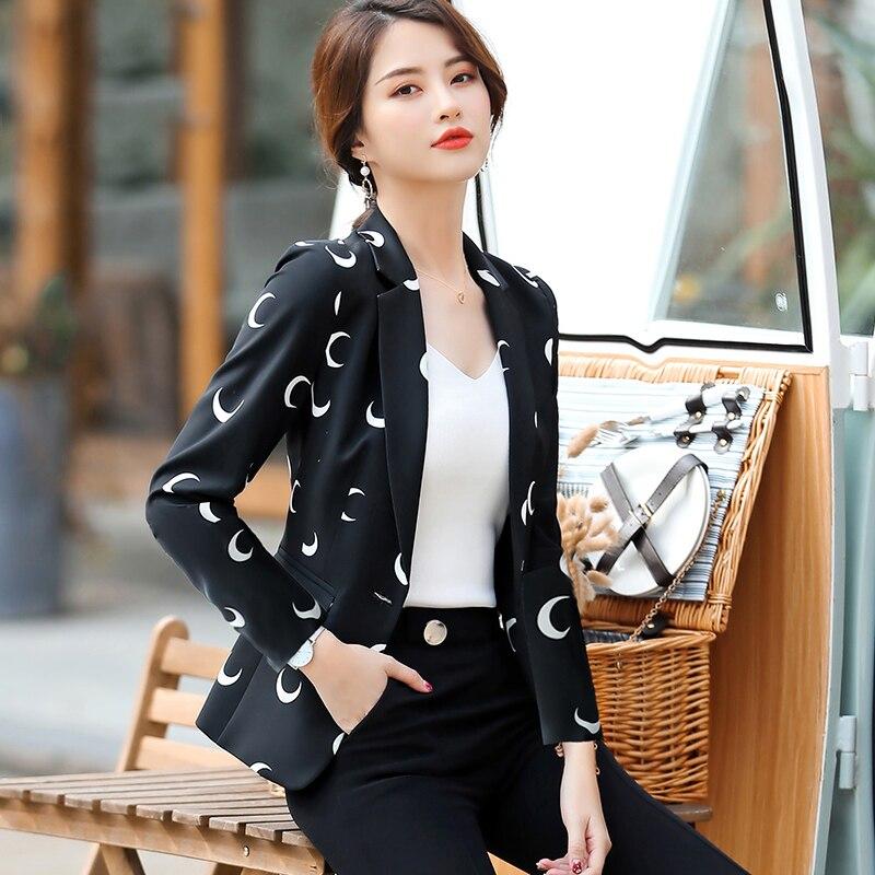 Весенне-осенний Модный женский тонкий пиджак 2019 элегантный офисный женский костюм повседневная куртка на одной пуговице