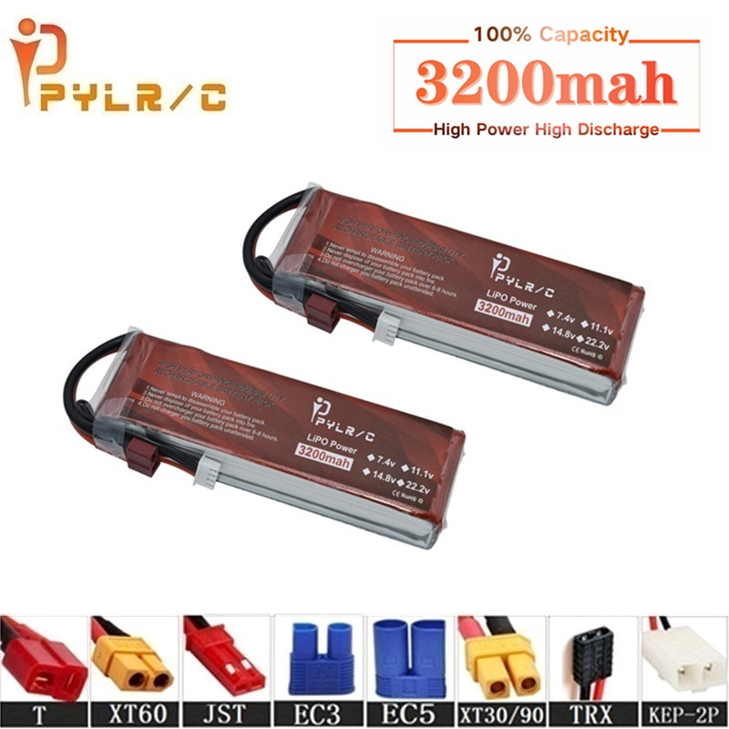 High Rate 7.4v 3200mAh Lipo Battery For RC Helicopter Parts 2s Lithium battery 7.4v 35C RC Cars Airplanes Drones Battery T/XT60(China)