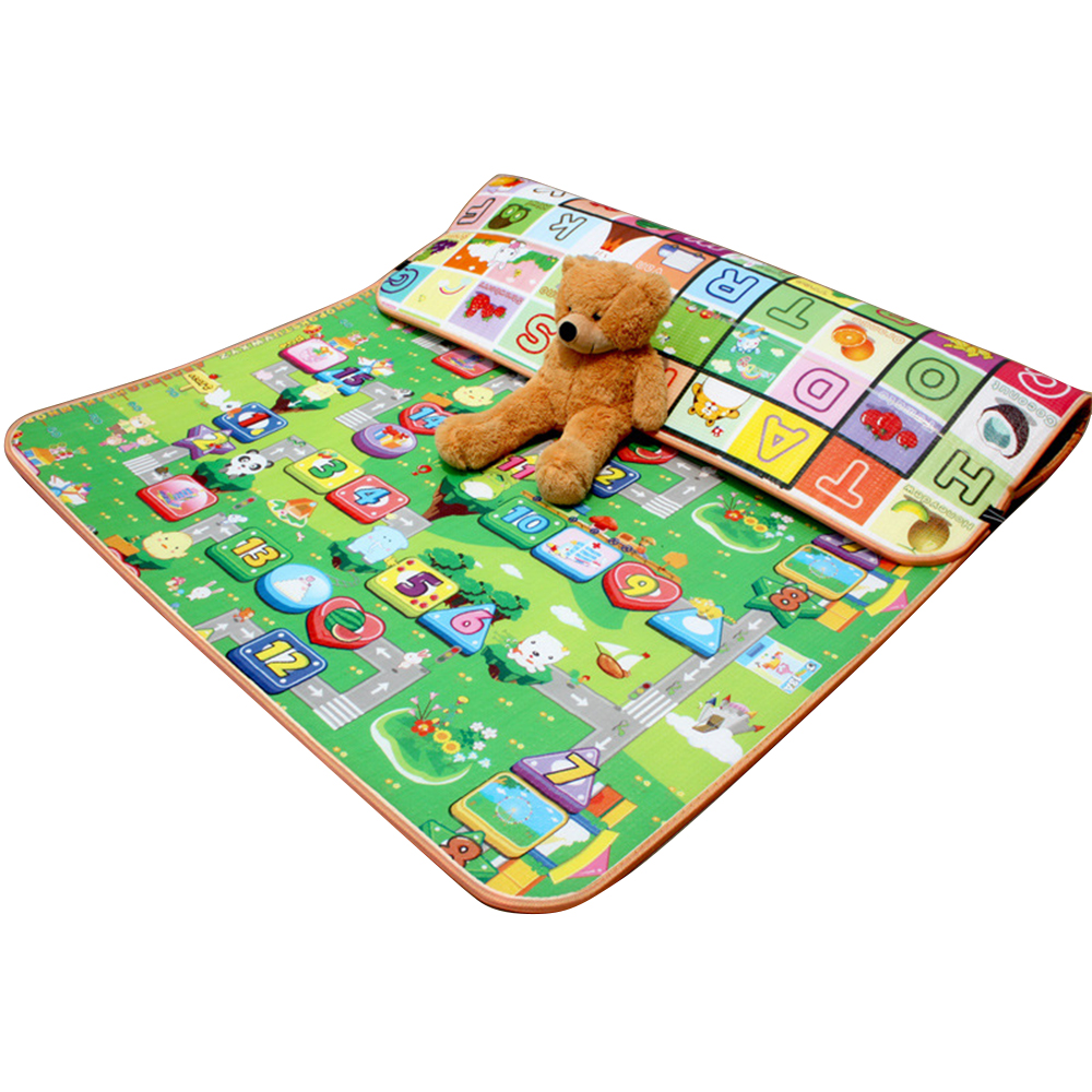 Baby Crawling Mat Baby Climbing Carpet Moisture Rug Outdoor Foldable Double Surface Children Game Blanket Gift Mat For Children