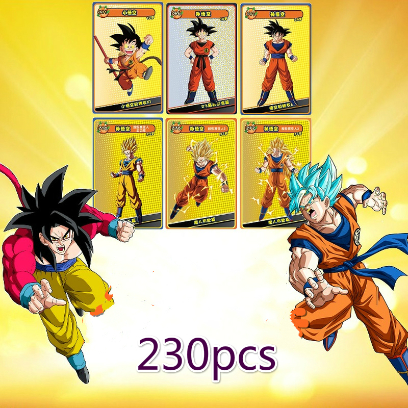 230pcs/set Dragon Ball Super Saiyan Goku Jiren Game Action Toy Figures Commemorative Edition Collection Cards Free Shipping