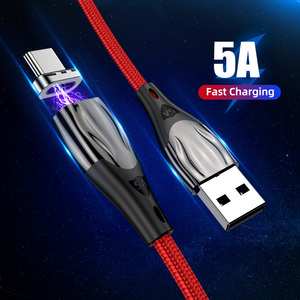 5A Type-c Data Cable 1m Super Fast Charging Magnetic Cord Type C Quick Charger Wire for iphone X Samsung S8 Huawei Xiaomi mi8