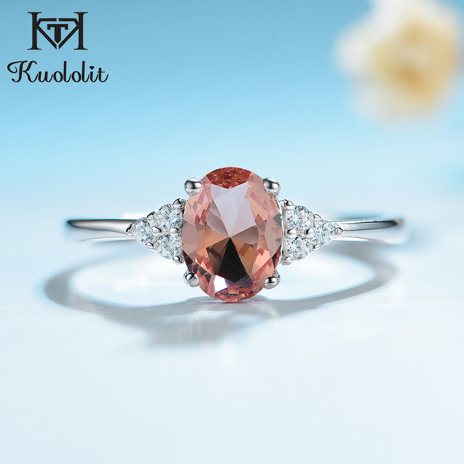 Kuololit Diaspore Tanzanite Gemstone Ring for Women Solid 925 Sterling Silver Color Change Ring for Wedding Engagement Jewelry