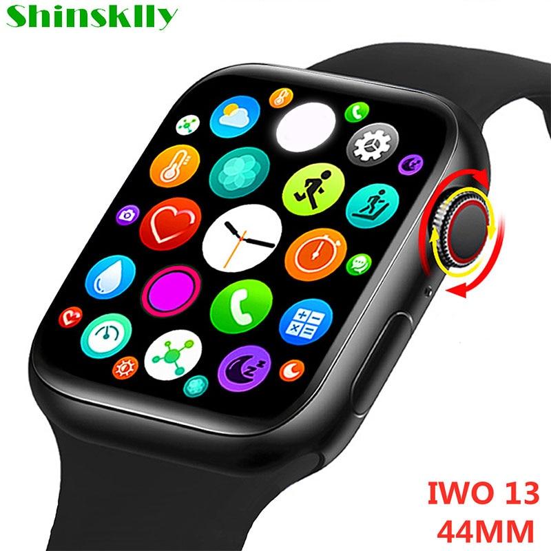 2021 Смарт-часы 1,75 дюймов Экран вызовов через Bluetooth, умные часы для мужчин женщин Ночная/монитор сердечного ритма IWO 13 Часы для IOS Android