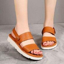 AIYUQI Women Summer Sandals 2020 New Genuine Leather Ladies Two Ways To Wear Fashion Retro
