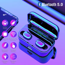 2019 New 3500mAh TWS 5.0 Wireless Bluetooth Earphone LED Power Bank For Xiaomi iphone Stereo Headset IPX7 Waterproof headphones(China)