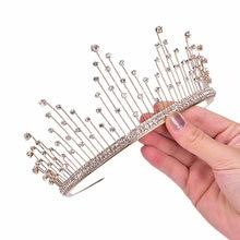 Casamento coroa de cristal e tiara noiva acessórios para o cabelo coroa de casamento tiara nupcial diadem cabeça jóias moda
