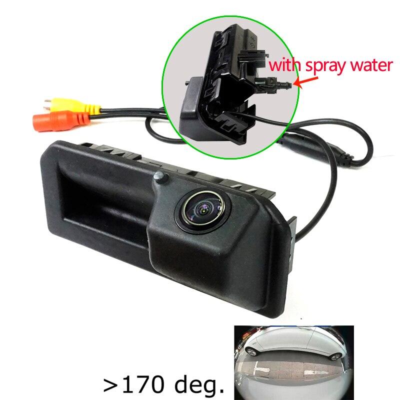 180deg HD Car Rear Camera For Skoda Karoq KODIAQ Cayenne 2018 Sagitar Polo Bora Passat 2019 Trunk Handle Camera Spray Water