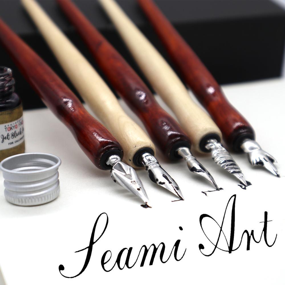 1/5Pieces Pen Nib Cartoons Dip Pen Metal Manga Comic Drawing Cartoon Tool Comic Hand-Painted Nib Supplies