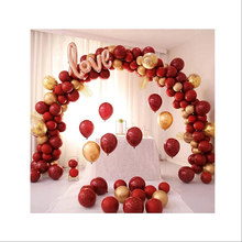 Łuk balonowy płatek róży ślubny kwiat zestaw dekoracji miłość niedźwiedź czerwone serce balon walentynki strona dekoracji