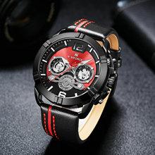 Brand Luxury Men Watches NAVIFORCE Fashion Leather Quartz Watch Military Chronograph Sports Wristwatch Clock Relogio Masculino стоимость