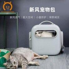 Pet bag For outdoor travel Cat pet backpack transparent breathable convenient