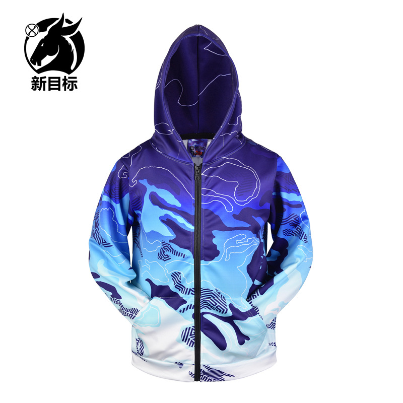 2019 Autumn And Winter Jacket Zipper 3D Printed Hoodie Street Couples Oversize off-the-Shoulder Cardigan Coat