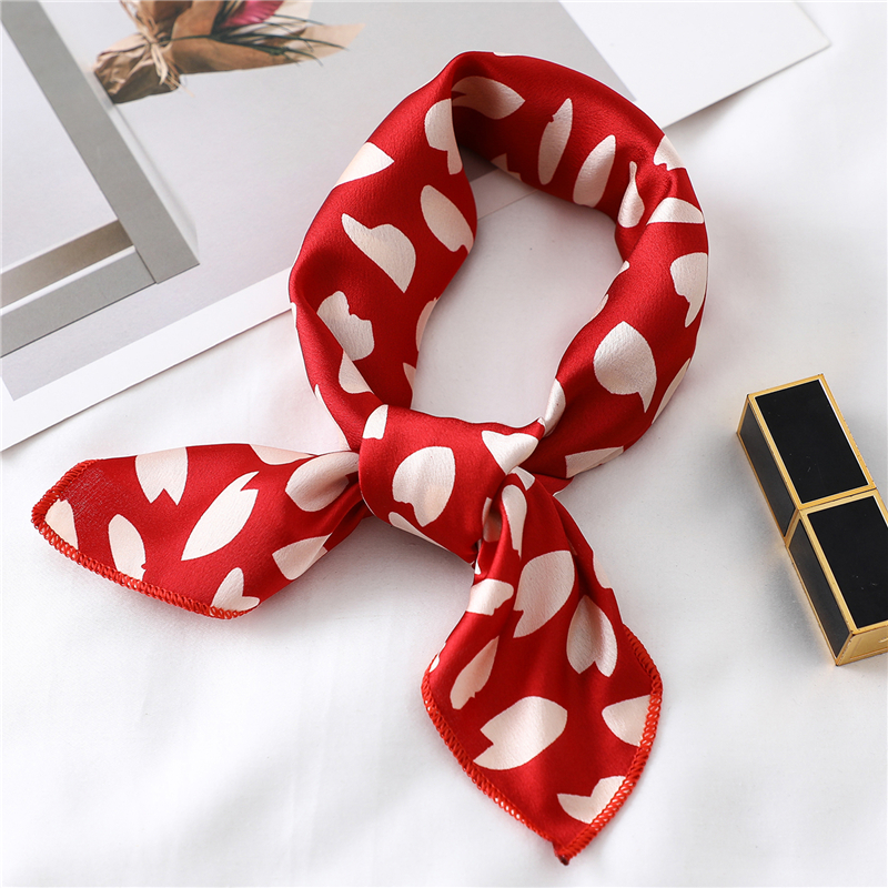 Small Silk Square Scarf For Women Fashion Print Office Lady Neck Scarves Foulard Hair Band Girl Handkerchief 2020 Designer