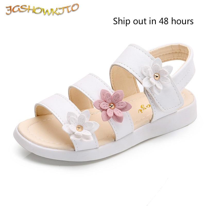 Filles sandales gladiateur fleurs doux doux enfants chaussures de plage enfants été sandales à fleurs princesse mode mignon de haute qualité
