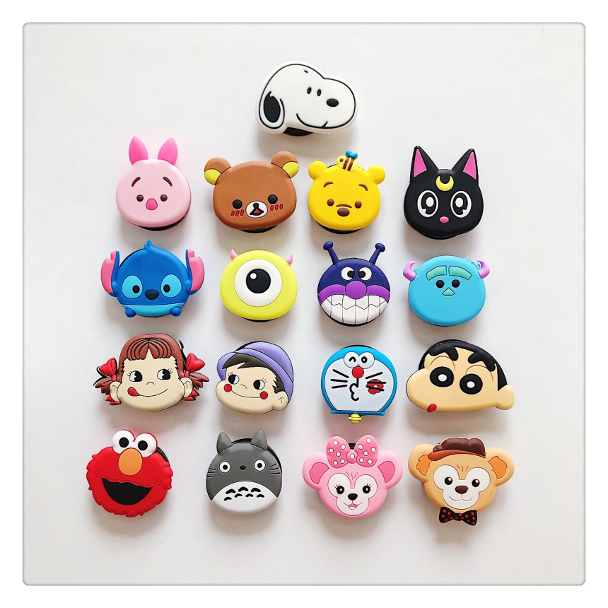Universal Mobile Phone Stretch Bracket Cartoon Air Bag Phone Expanding Phone Stand Finger Car Phone Holder For IPhone XR