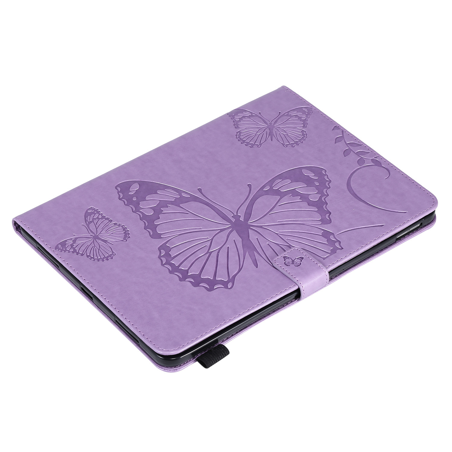 1 White Butterfly Tablet Fundas For iPad Pro 12 9 Case 2020 2018 Folding Folio Embossed Cover For