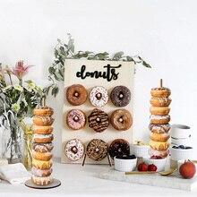 Donut ติดผนังงานแต่งงานตกแต่ง DIY Donut จอแสดงผลบาร์ฐาน Baby Shower วันเกิดเค้กขนมหวานตกแต่งตาราง