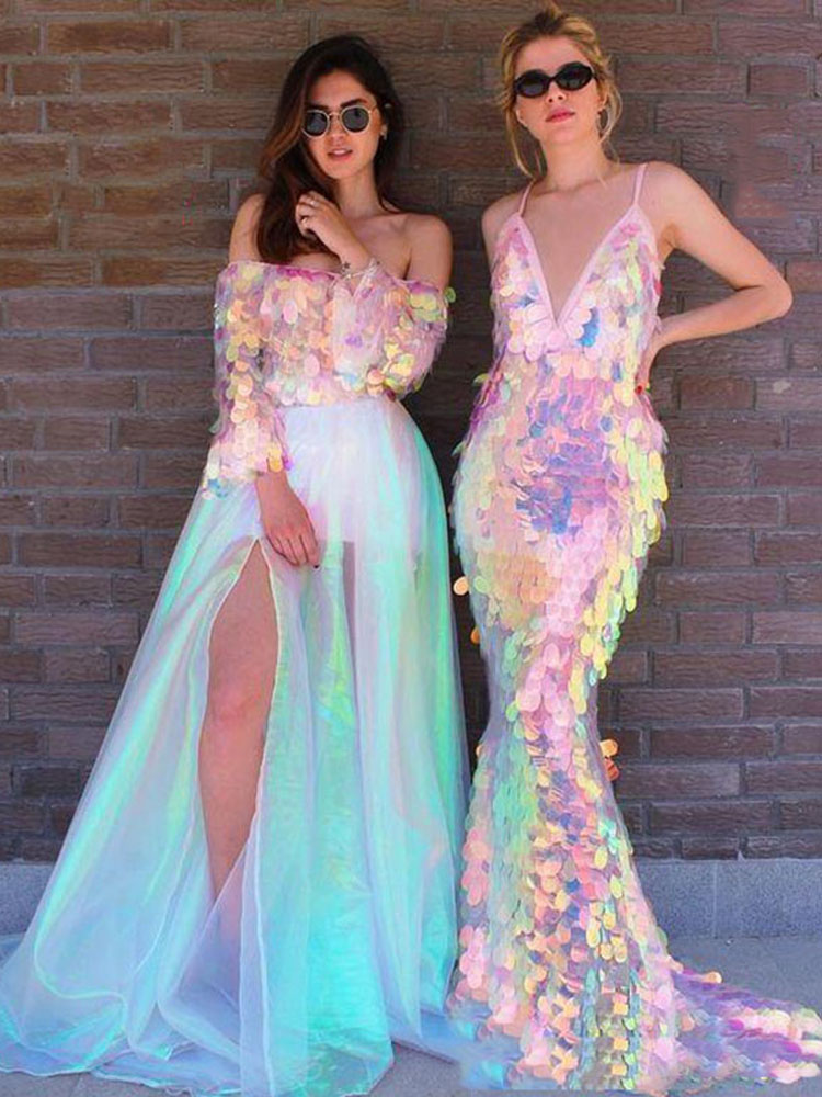 Eightree Prom-Dresses Party-Gowns Evening-Dress Robes-De-Soiree Sequined Mermaid Sparkling
