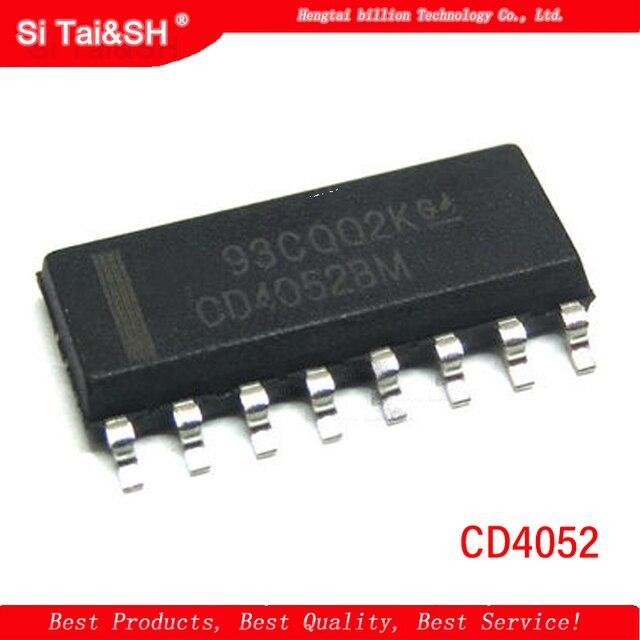 10 Pz/lotto CD4052 HEF4052 hef4052 cd4052 CD4052BE 4052 SMD Chip di SOP-16 del Commercio All'ingrosso
