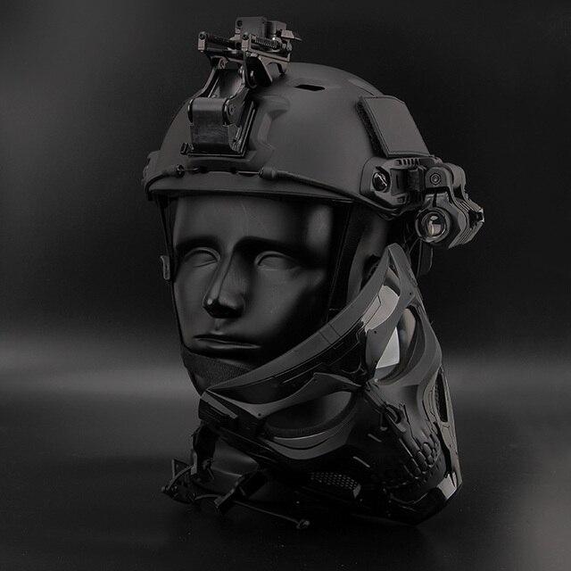 Bulletproof Helmet Bullet Proof Skull Mask  Lightweight Military Tactical Bulletproof Helmet Tactical Painball Riding 3