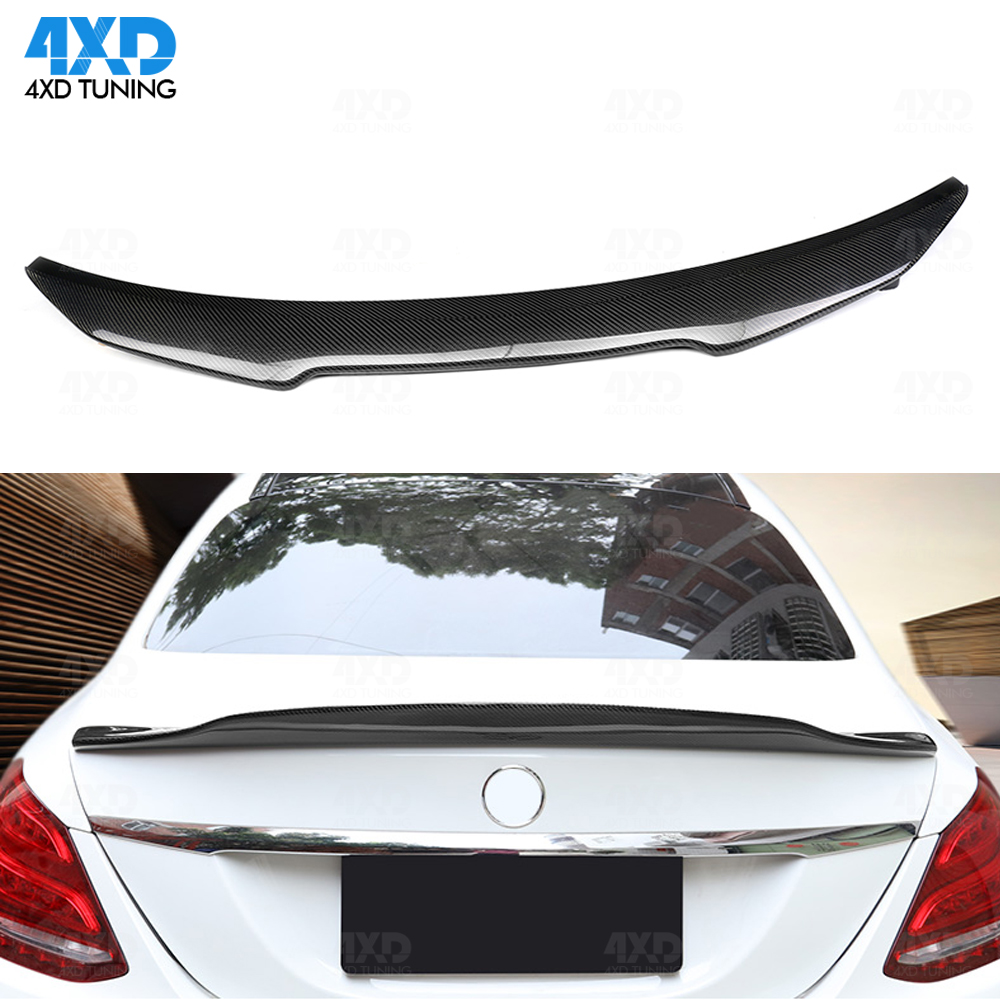 Real Carbon Spoiler PSM Style For <font><b>Mercedes</b></font> W204 C200 c220 C250 <font><b>C300</b></font> Sedan Rear Trunk wing 2008 2009 2010 2011 <font><b>2012</b></font> 2013 2014 image
