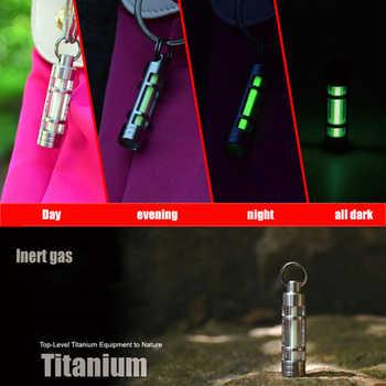 Automatic Light Titanium Alloy tritium keychain Gas Lamp Life Saving Emergency Lights For Outdoor Safety Survival тритий брелок