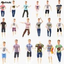 Vestiti Per Le bambole Per Barbie Fidanzato Ken Abiti Vestiti Per La Bambola Ken Accessori Giocattolo Del Capretto Breve Magliette e camicette Pantaloni per 1:6 BJD Bambole Regalo