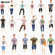 Doll Clothes For Barbie's Boyfriend Ken Outfits Clothes For Ken Doll Accessories Kid Toy Short Tops Pants for 1:6 BJD Dolls Gift