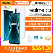 Realme X3 SuperZoom wersja globalna 8GB 128GB 60X Super Zoom Snapdragon 855 + 120Hz wyświetlacz 64MP Quad Camera UFS 3.0 30W ładowarka